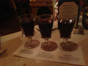The Silver Fork changes it's wine flight on a regular basis...Fun!